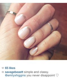 NailsbyemilyHIGGINS Essie gel in dance class with rose gold laced cuticles taken from my Instagram account