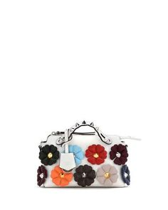 Fendi Small By the Way Studded Flower Satchel Bag b95a19ca984a5