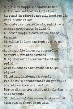 29th poem - Mâinele de azi Words, Horse