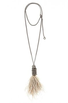 Cher Feather Pendant Necklace