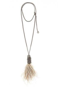 @Kristen Kyslinger St. Barth Feather Pendant Necklace