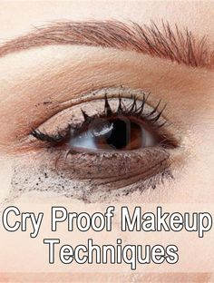 Cry Proof Makeup Techniques -the pic looks weird but the link has some pretty good, if not a bit complex,makeup tips.