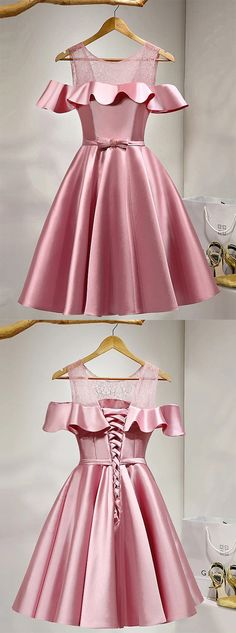 Pink Homecoming Dresses,Short Prom Dresses,Girls Cocktail Dress,Homecoming Dress,Graduation Dress,Cute Party Dress,Short Homecoming Dress