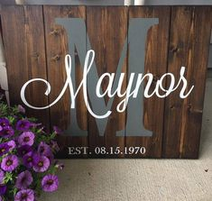 Rustic Wedding Gifts, Personalized Wedding, Gift Wedding, Handmade Wedding, Trendy Wedding, Personalized Wood Signs, Monogram Signs, Monogram Styles, Wedding Signs