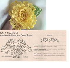 crochet flower...♥ Deniz ♥