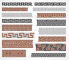 Fronteras de estilo griego — Ilustración de stock #10433333