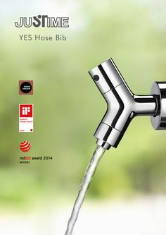 JUSTIME YES Hose Bib. Chicago Good Design Award 2013, #RedDot Design Award 2014, #iF Design Award 2014. #design #award #Chicago #faucet #tap #Taiwan