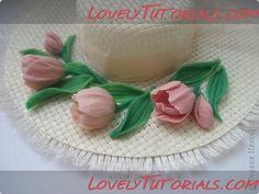 tulip gumpaste flower tutorial