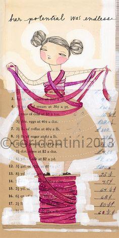 beautiful art journal by Cori Dantini