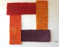 Aino Kajaniemi - Tekstiilitaiteilija TEXO - Textile Artist Textile Artists, Rug Hooking, Wool Rug, Textiles, Tapestry, Rugs, Wall, Projects, Inspiration