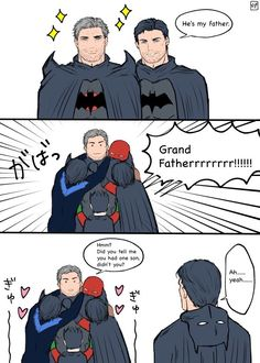 the button😇🙏😇🙏HAPPY. Superman X Batman, Batman Comic Art, Batman Robin, Robin Dc, Batman Arkham, Superhero Family, Superhero Memes, Bat Family, Math Comics