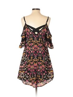 Xhilaration Polyester Floral Black Casual Dress Size S - off Modern Wardrobe, Casual Dresses, Cold Shoulder Dress, Swimsuits, Stylish, Floral, Clothes, Black, Women