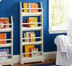 wall mounted book shelves with lip | Wall-Mounted Children's Bookshelf