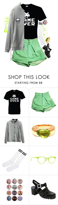 """Human!Peridot"" by king-archie ❤ liked on Polyvore featuring Chicnova Fashion, Pomellato, Italia Independent and Pilot"