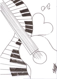 Easy traceable drawings guitar drawing in pencil easy fresh music abstract traceable and coloring for the Music Painting, Guitar Painting, Guitar Art, Painting & Drawing, The Art Sherpa, Guitar Drawing, Painting Lessons, Painting Inspiration, Pencil Drawings