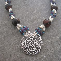 How about this colour combination of gemstones with our Motherhood pendant?