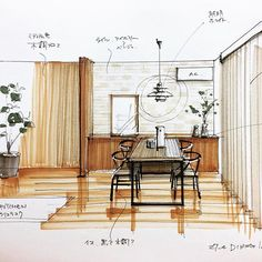 Online Home Decorating Software Interior Design Sketches, Home Interior Design, Interior Architecture, Perspective Sketch, House Sketch, Rustic Interiors, Layout, Home Decor, Software
