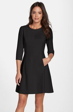 Vince Camuto Crepe A-Line Dress (Regular & Petite) | Nordstrom