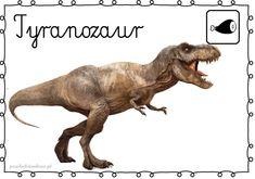 DINOZAURY – plansze – Przedszkolankowo Shape Templates, Jurassic World, Montessori, Lion Sculpture, Museum, Statue, Math, Fantasy, School