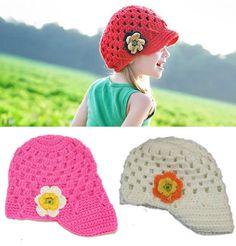 Baby Girls Kids parrot Cute crochet Knit Warm Ski Party beanies hat Cap Prop