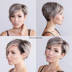"""4,979 Likes, 13 Comments - PixieCut  ShortHair  Blogger (@nothingbutpixies) on Instagram: """"@d_w_i_l_l_o_w  wearing her Platinum pixie with pops of color. ✂  Perfect for a Friday night..…"""""""