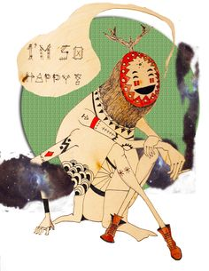 So Fucking happy by Creasion  www.Creasion.com  #art #illustration #skateboarding