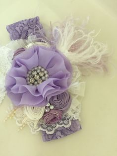 Purple Headband Baby Headbands Newborn por AvryCoutureCreations