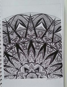 Judy's Zentangle Creations Design 1 of Half Mandalas