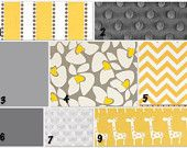 I'm loving the yellow and gray for a baby's room!