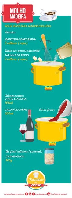 Sauce Creme, Menu Dieta, Cooking Recipes, Cooking Tips, Sauces, Portuguese Recipes, Happy Foods, Just Cooking, Food Illustrations