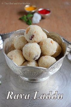 THE CHEF and HER KITCHEN: Rava Ladoo | Sooji Ladoo | Rava Laddu Recipe | Easy Diwali Sweets Recipes