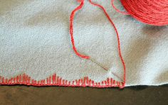 Tutorial: 5 Simple Blanket Stitch Variations #sewing #embroidery #stitching