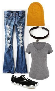 school outfit 2 by jayden-rishell on Polyvore featuring maurices, American Eagle Outfitters and Vans
