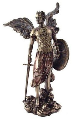 13.5 Inch Archangel Michael Statue with Shield and Sword, Bronze for USD79.49 #Collectibles #Decorative #Collectibles #Archangel  Like the 13.5 Inch Archangel Michael Statue with Shield and Sword, Bronze? Get it at USD79.49!