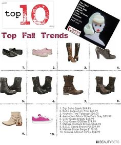 I love some of those boots! Fall Shoe Picks FamousFootwear