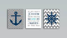 Nautical nursery decor Nautical nursery art by OnlyPrintableArts, $12.00