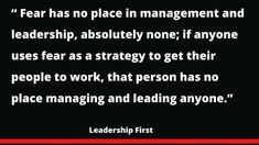 Leadership, Management, How To Get