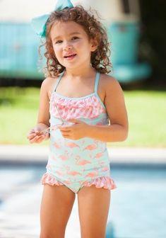 0017ad0e282e2 Pink Flamingo One Piece Swimsuit Material, Girls Swimming, Swimsuits,  Bikinis, Swimwear,