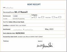 Free Download Rental Receipt Template