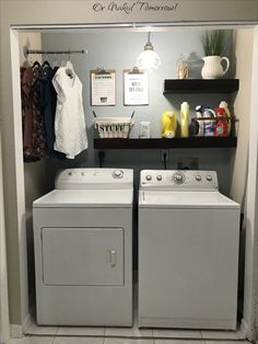 Best Small Laundry Room Ideas on A Budget that You Have Never Thought of - Laundry closet makeover. 15 Mind-Blowing Small Laundry Room Ideas Must You TryLaundry closet makeover. 15 Mind-Blowing Small Laundry Room Ideas Must You Try Laundry Closet Makeover, Laundry Room Remodel, Laundry Room Organization, Organization Ideas, Laundry In Closet, Laundry Room Makeovers, Laundry Room Shelving, Closet Small, Organized Laundry Rooms