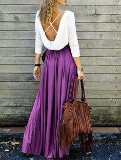 SHARE & Get it FREE | Spliced Back Low Cut Criss-Cross Maxi DressFor Fashion Lovers only:80,000+ Items • New Arrivals Daily Join Zaful: Get YOUR $50 NOW!