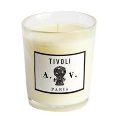 Tivoli - Candle (glass) 8.3oz by Astier de Villatte. Shop now at http://www.aedes.com!