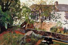"""Pierre-Eugène Clairin 1897-1980 """" L'atelier de Gauguin à Pont Aven """" 1958"""