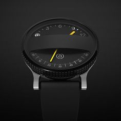 As the smartwatch race gaines momentum, a few concept models have been showing up with some designs such as the Gábor Balogh smartwatch becoming incredibly popular. This beautiful concept named Span, is not a smartwatch so much as a watch that ha Amazing Watches, Cool Watches, Watches For Men, Black Watches, Gents Watches, Aftershave, Pure Beauty, Luxury Watches, Fashion Watches