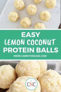 This easy and delicious recipe is the perfect on-the-go snack or a healthy dessert. Packed full of protein these protein ball recipe will be a staple in your meal prep. Perfect snack for keto and macro plans! Healthy Dessert Recipes, Easy Desserts, Snack Recipes, Protein Snacks, Healthy Snacks, Protein Recipes, Protein Muffins, Protein Cookies, High Protein