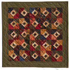 green wool squares in center