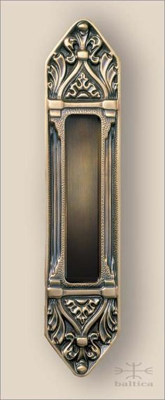 Davide Recessed Pull | Antique Brass | Gothic | Handcrafted In Europe By  The Master Artisans Of Baltica Hardware | Custom Door Hardware | Luxury Door  ...