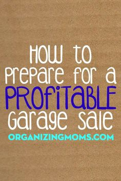 Resale Ideas Make Money 20 tips to help you get ready for your next garage sale. This is your chance to grab 100 great products WITH Master Resale Rights for mere pennies on the dollar! Garage Sale Organization, Garage Sale Tips, Organization Ideas, Organization Station, Organized Mom, Getting Organized, Rummage Sale, Moving Tips, Money Saving Tips