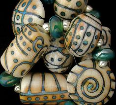 Glass Beads Travel Beads Tribal Beads Lampwork Beads Handmade Beads For Jewelry Supplies Beads For Necklaces Artisan Beads Debbie Sanders Polymer Beads, Lampwork Beads, Polymer Clay, Handmade Beads, Handmade Jewelry, Artisan Jewelry, Diy Jewelry, Bead Jewellery, How To Make Beads