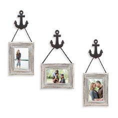 Wall Solution 6-Piece #Anchor Frame Set in White via Bed Bath and Beyond